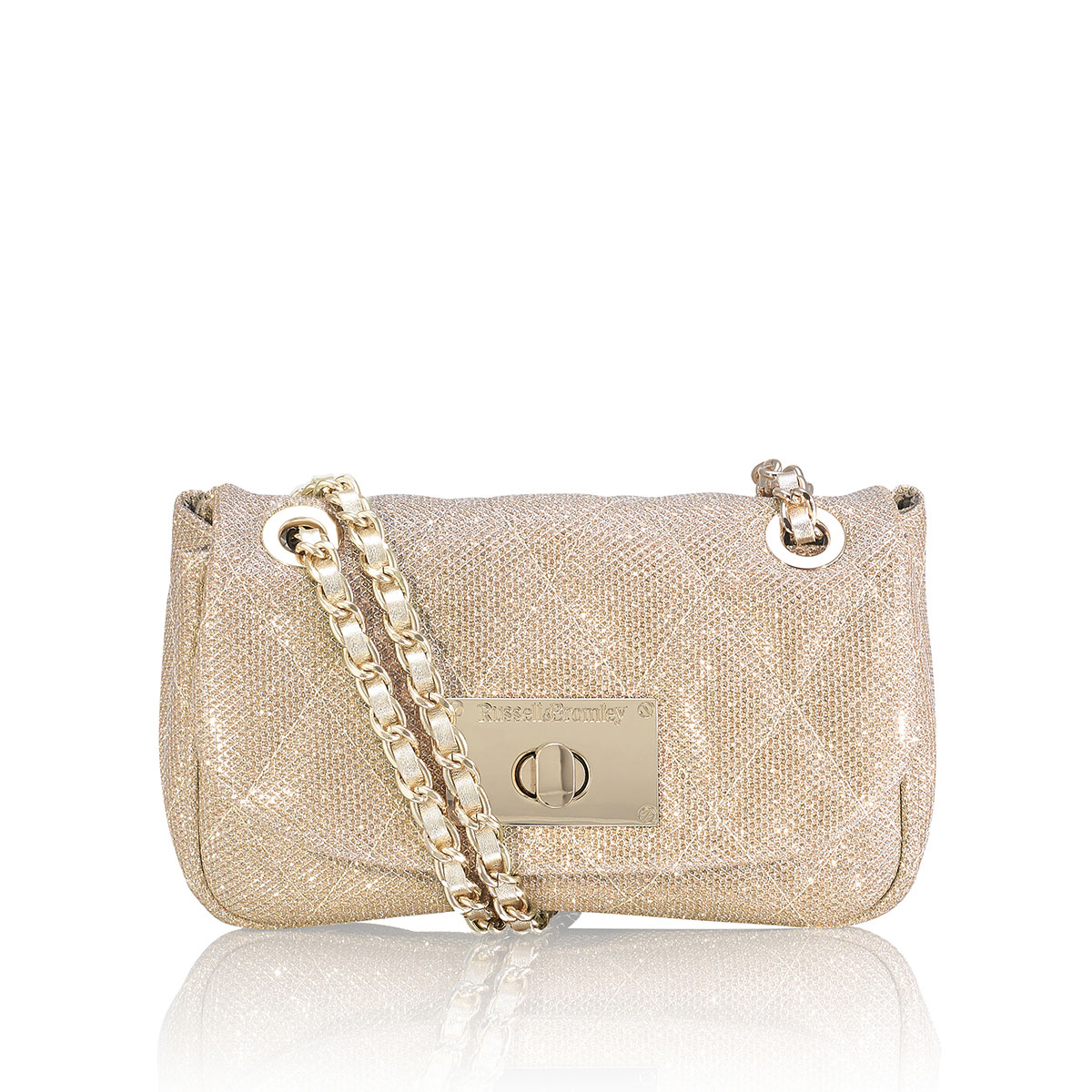Russell And Bromley QUINCEMINI Mini Chain Shoulder Bag