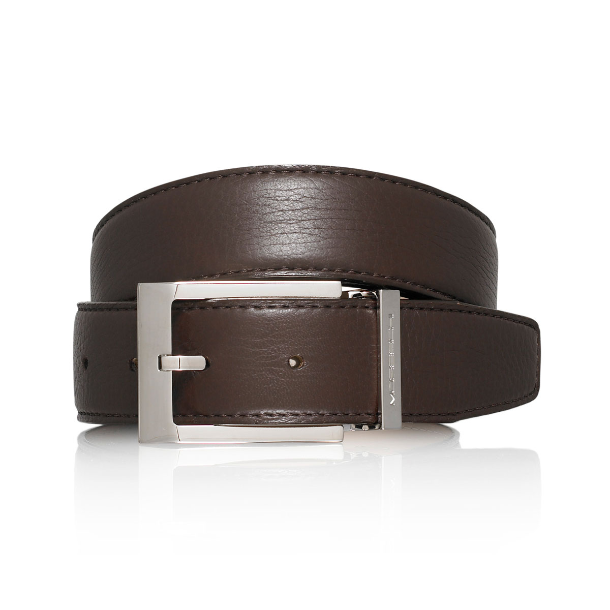 Russell And Bromley BUGATTI Metal Keeper Belt