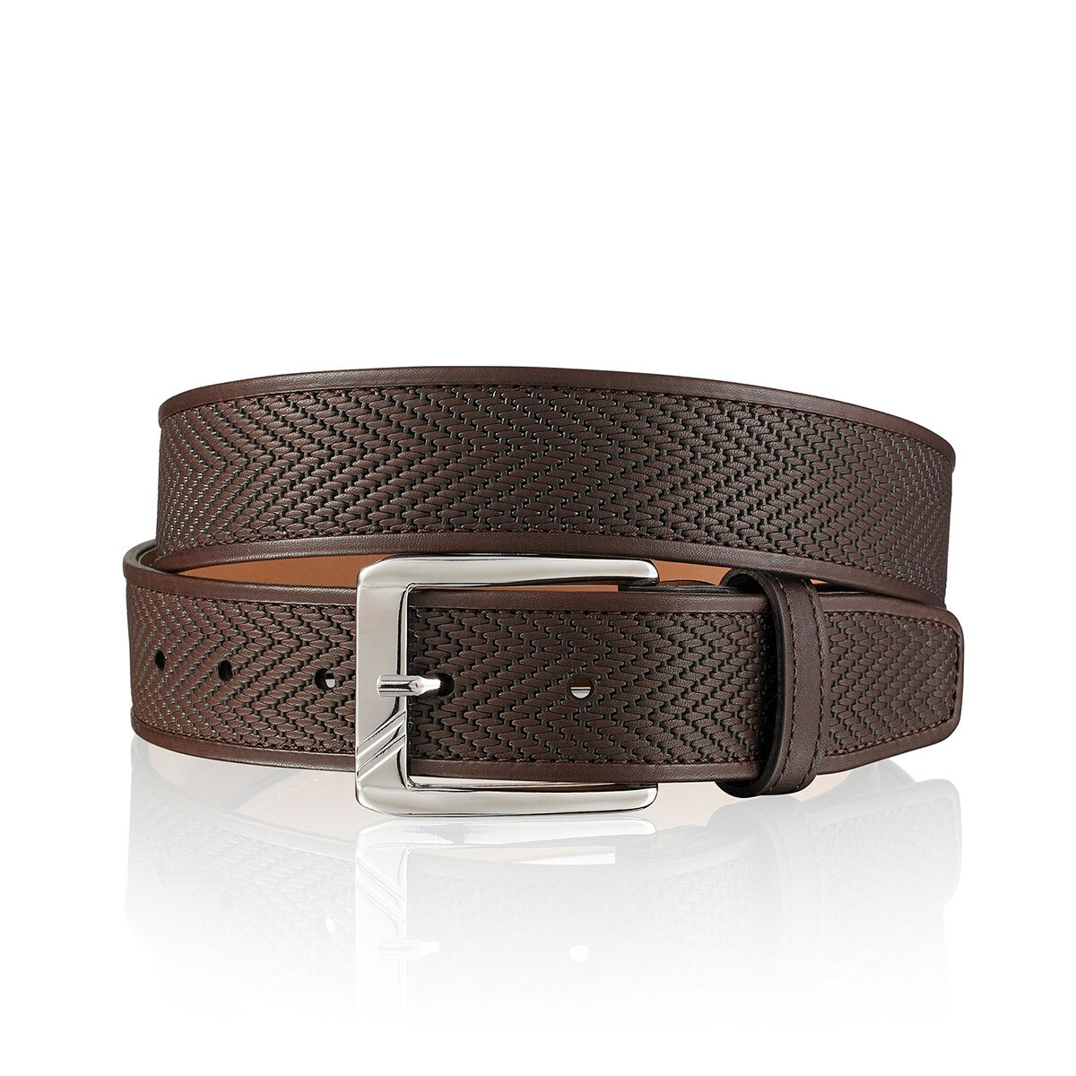 CHEVRON Mens Leather Belt