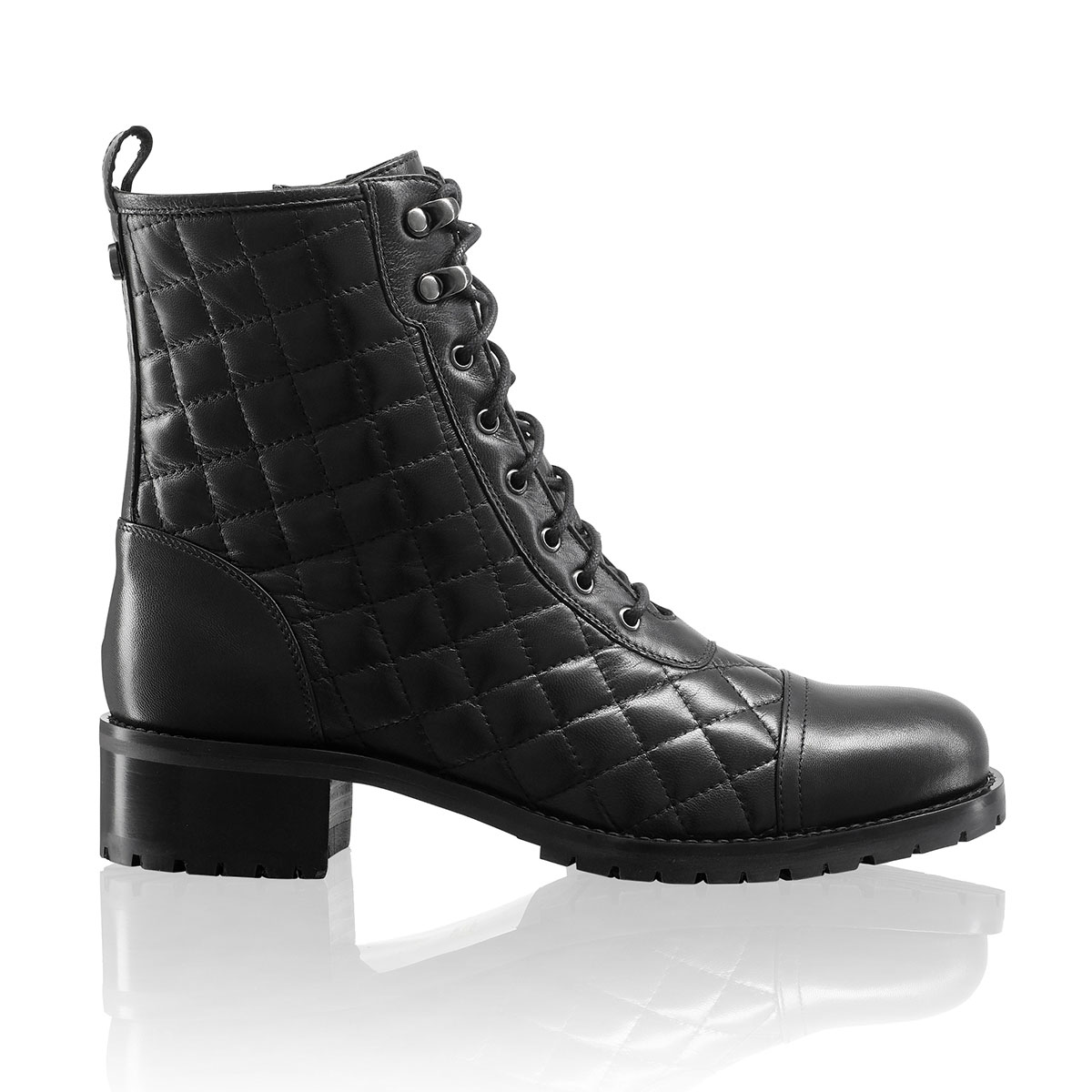 Russell And Bromley TOUGHSTUFF Quilt Biker Boot