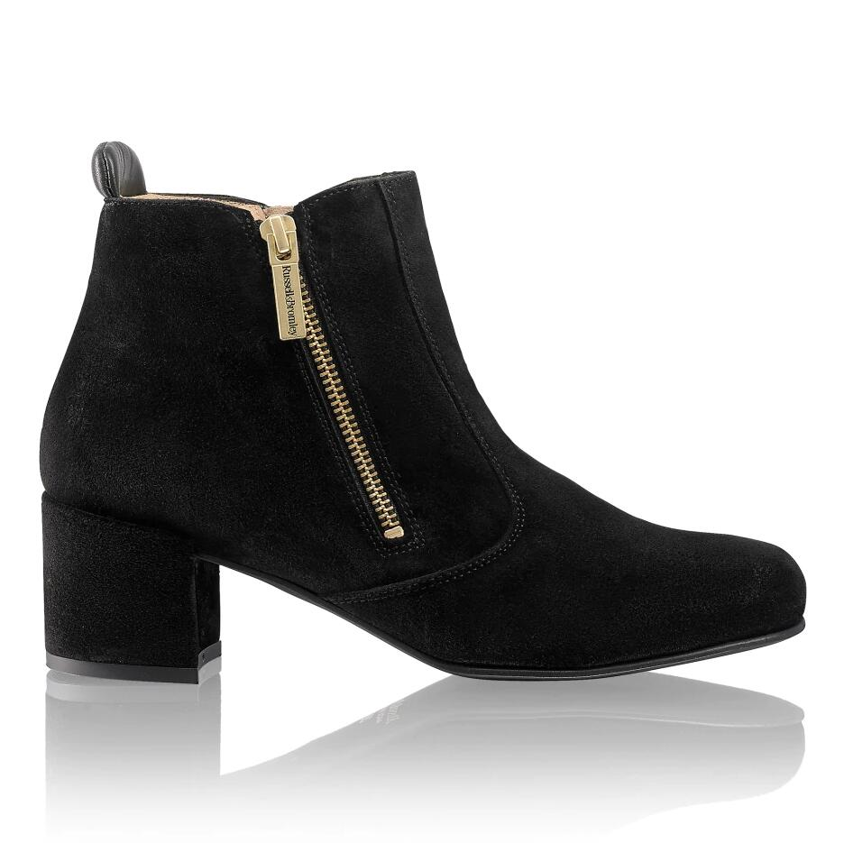 Russell And Bromley ZIP IT Double Zip Mid Heel Boot